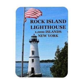 Magnet Flexible Phare d'île de roche, aimant de câble de New York