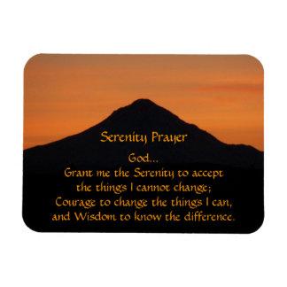 Magnet Flexible Photo de coucher du soleil de montagne de prière