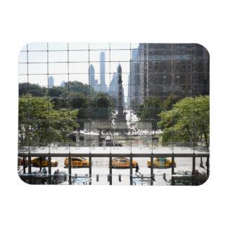 Magnet Flexible Photo de négligence de New York City de cercle de