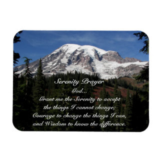 Magnet Flexible Photo du mont Rainier de prière de sérénité