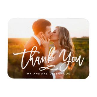 Magnet Flexible Photo en lettres de Merci de main chic