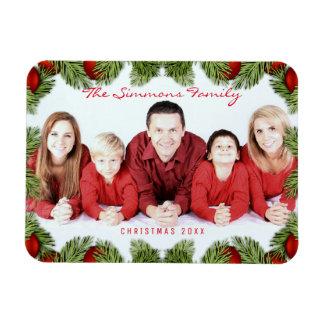 Magnet Flexible Photo et nom de famille rouge faite sur commande