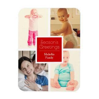 Magnet Flexible Photos de famille rouges de Noël