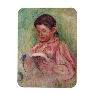 Magnet Flexible Pierre une lecture de femme de Renoir  