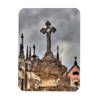 Magnet Flexible Plan rapproché croisé de cimetière, Portugal