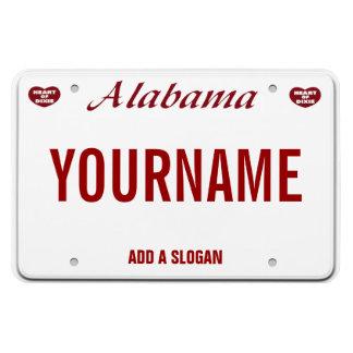 Magnet Flexible Plaque minéralogique de l'Alabama (personnalisée)
