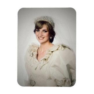 Magnet Flexible Portrait de mariage de princesse Diana