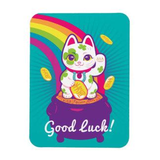 Magnet Flexible Pot de bonne chance de Maneki Neko de chat d'or