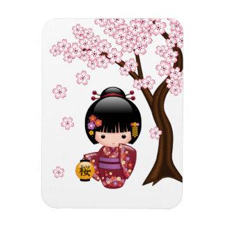 Magnet Flexible Poupée de Sakura Kokeshi - fille de geisha