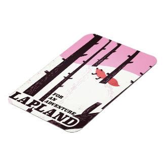 Magnet Flexible Pour un poster vintage de la Laponie d'aventure