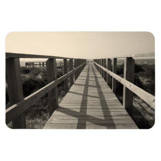 Magnet Flexible Promenade de plage dans la sépia