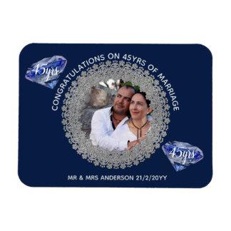 Magnet Flexible quarante-cinquième Anniversaire de mariage -