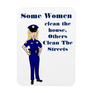 Magnet Flexible Quelques femmes nettoient l'humour de policier