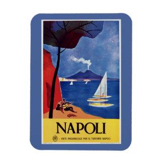Magnet Flexible Rétro annonce vintage de voyage de Napeles Italie