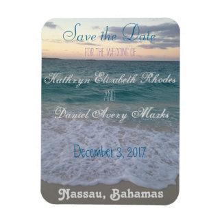Magnet Flexible Sauvez le mariage de plage de date