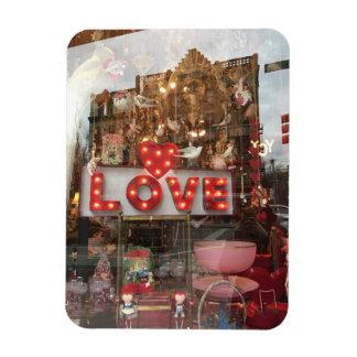 Magnet Flexible Signe de coeur de fenêtre de magasin de