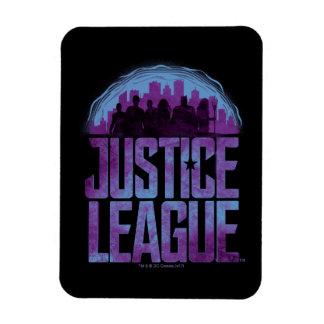 Magnet Flexible Silhouette de ville de ligue de justice de la