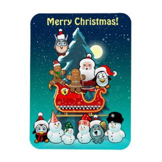 Magnet Flexible Sleigh de Père Noël par l'arbre de Noël