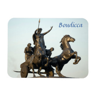 Magnet Flexible Statue de Boudicca en photo de souvenir de Londres