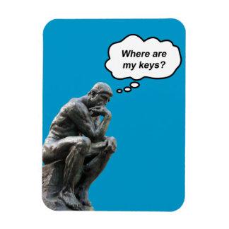 Magnet Flexible Statue du penseur de Rodin drôle - où sont mes
