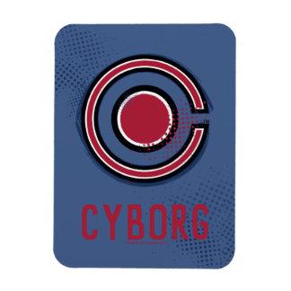 Magnet Flexible Symbole de cyborg de brosse et d'image tramée de