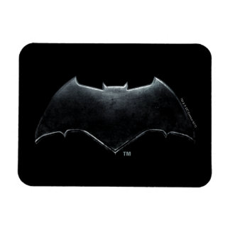 Magnet Flexible Symbole métallique de la ligue de justice   Batman