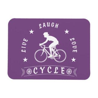 Magnet Flexible Texte de Live Laugh Love Cycle de Madame (blanc)