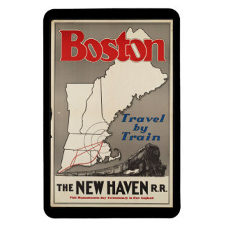 Magnet Flexible Train de chemin de fer vintage de Boston New Haven