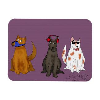 Magnet Flexible Trois chiens obéissent l'aimant