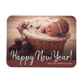 Magnet Flexible Vacances 2018 de photo de bébé de bonne année
