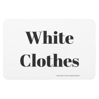 Magnet Flexible Vêtements blancs - adresse de w/website