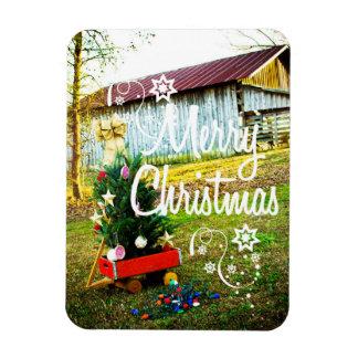 Magnet Flexible Vieil arbre de grange de Noël vintage
