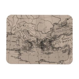 Magnet Flexible Vieille carte, noir de la mer Méditerranée,