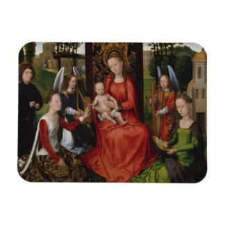 Magnet Flexible Vierge et enfant avec des saints Catherine de