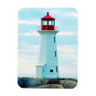 Magnet Flexible Vieux phare, océan bleu, maritime, nautique