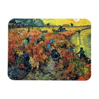 Magnet Flexible Vincent van Gogh - vignoble rouge à la peinture