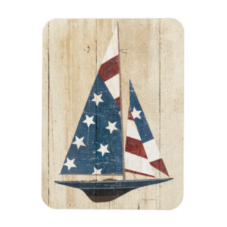 Magnet Flexible Voilier avec le drapeau américain