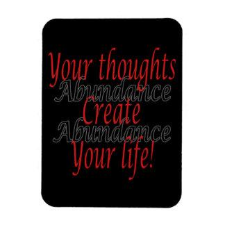 Magnet Flexible Vos pensées créent votre vie
