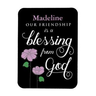 Magnet Flexible Votre amitié est une bénédiction d'aimant de Dieu