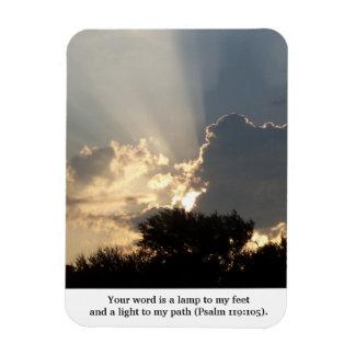 Magnet Flexible Votre mot est des doigts d'une lampe de Dieu