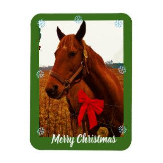 Magnet Flexible votre photo ici /text ou cheval et arc rouge de