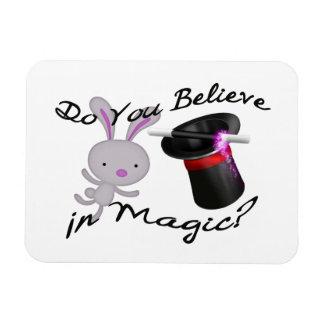 Magnet Flexible Vous croyez en casquette supérieur et lapin