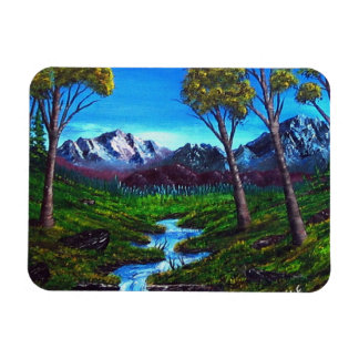 Magnet Flexible Vue d'arbres de courant de montagne rocheuse