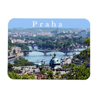 Magnet Flexible Vue de la ville du château de Prague