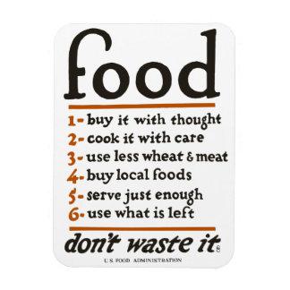 """Magnet Flexible WWI """"déchets de Nourriture-Don't il"""" aimant"""