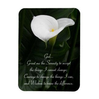 Magnet Flexible Zantedeschia de prière de sérénité floral