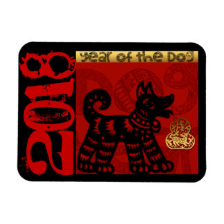 Magnet Flexible Zodiaque chinois M horizontal d'année de chien de