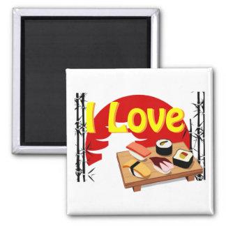 Magnet I Love Sushis Aimant Pour Réfrigérateur