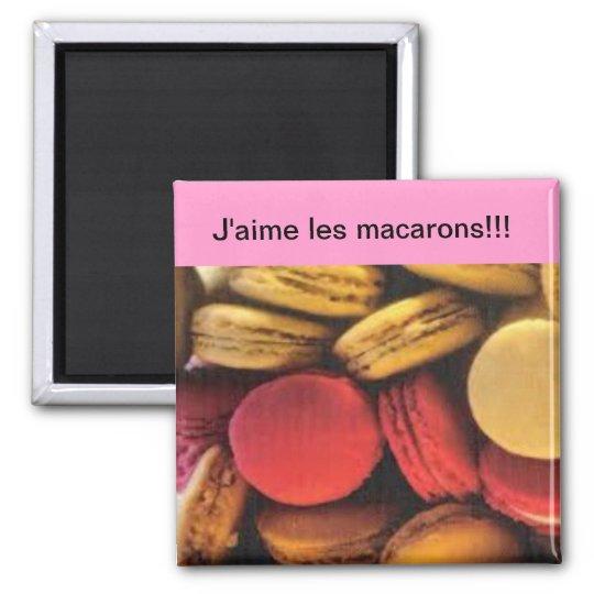 Magnet j'aime les macarons
