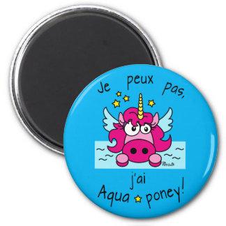 "Magnet ""Licorne, Aquaponey"" Magnet Rond 8 Cm"